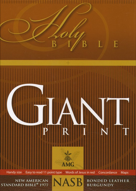 NASB 1977 Giant-Print Handy-Size Bible--bonded leather, black