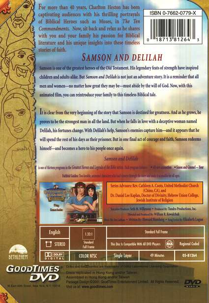Samson and Delilah,  Greatest Heroes and Legends of the Bible DVD