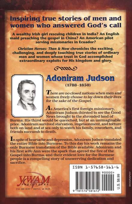 Christian Heroes: Then & Now--Adoniram Judson, Bound For Burma