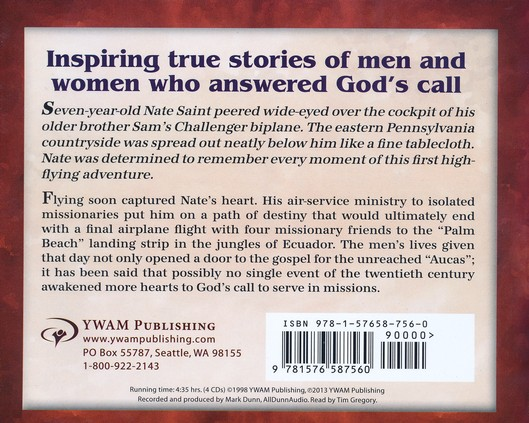 Christian Heroes Then & Now: Nate Saint Audiobook on CD
