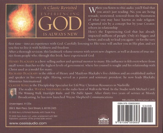 Experiencing God - Unabridged Audiobook on CD