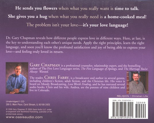 Heart Of The Five Love Languages, Audiobook on CD