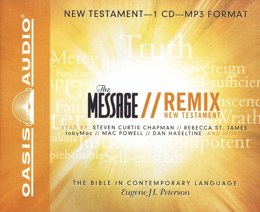 The Message Remix: The New Testament                  Audio Bible on MP3-CD