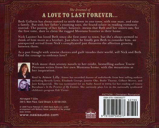 A Love To Last Forever, Brides of Gallatin County #2 Audiobook on CD