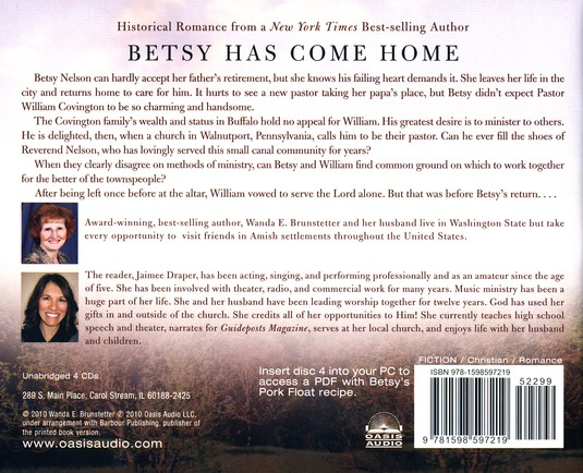Betsy's Return: Brides of Lehigh Canal #2 - Unabridged CD