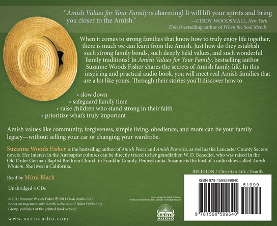 Amish Values for Your Family Unabridged Audiobook on CD