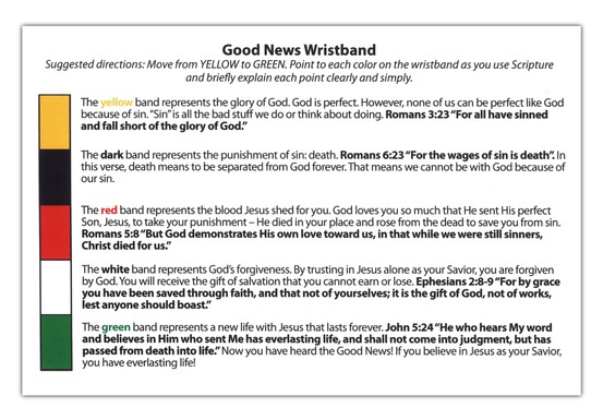 Good News Wristbands - Youth (English) Pack of 5