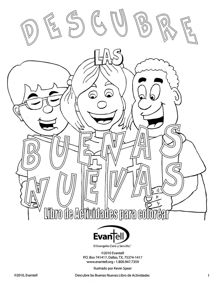 Discover Good News Activity Book (Black & White booklet) Spanish