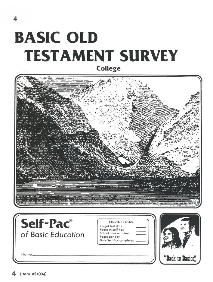 Old Testament Survey PACE 4, Grades 9-12