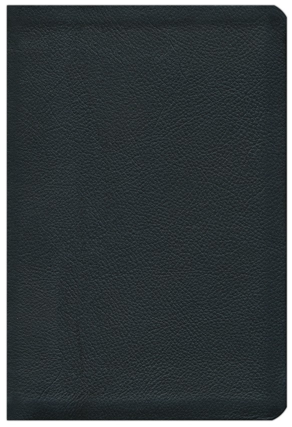 HCSB Large Print UltraThin Reference Bible, Black Genuine Cowhide Leather