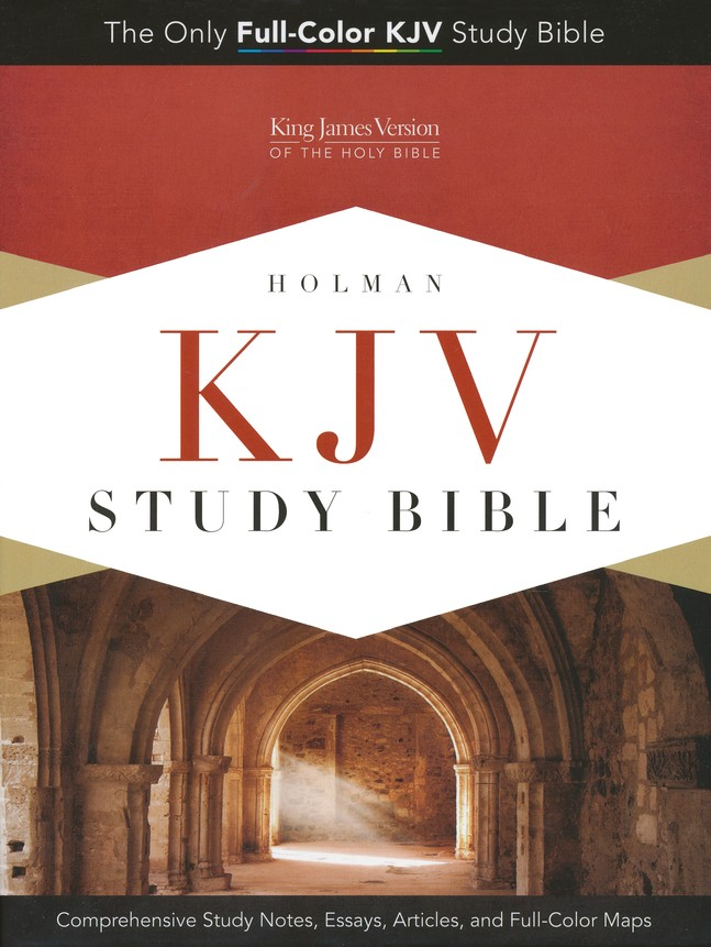 KJV Study Bible, Pink/brown soft leather-look, indexed