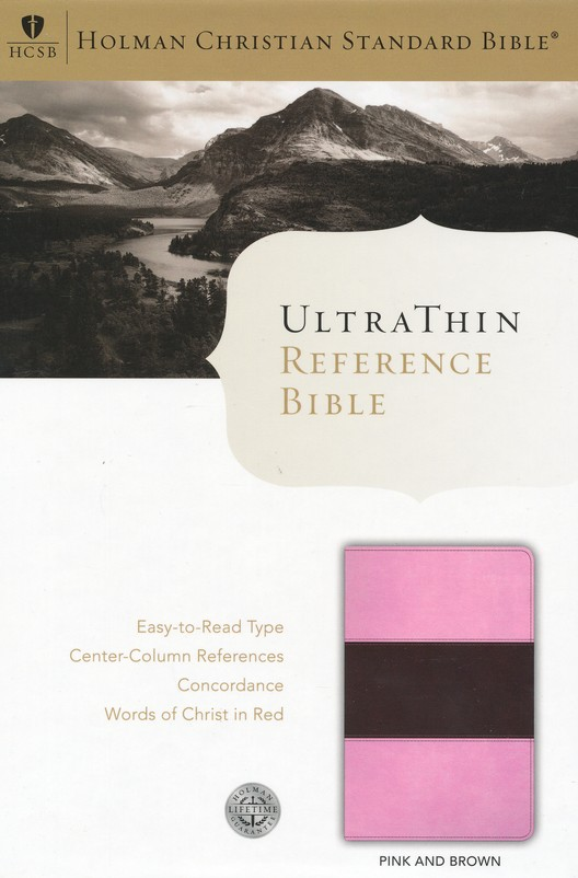 HCSB UltraThin Reference Bible, Pink/Brown Duotone LeatherTouch, Indexed