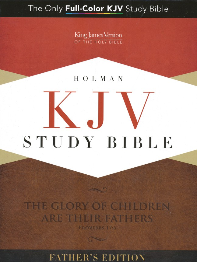 KJV Study Bible, Father's Edition--soft leather-look, black & tan