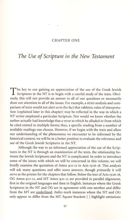 The Use of the Septuagint in New Testament Research