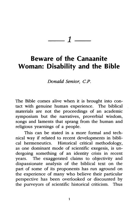 Religion & Disability: Perspectives in Scripture-  Theology & Ethics