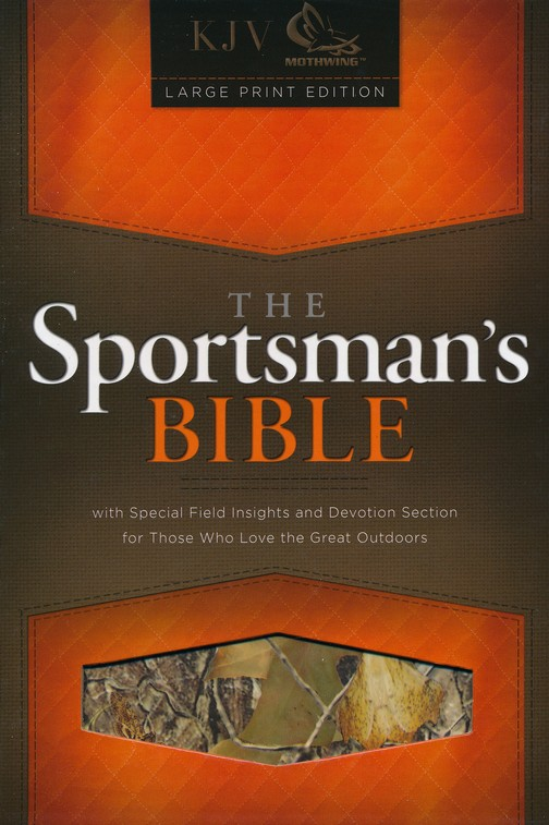 KJV Sportsman's Bible, Large Print Edition, MothWing Camouflage Bonded Leather