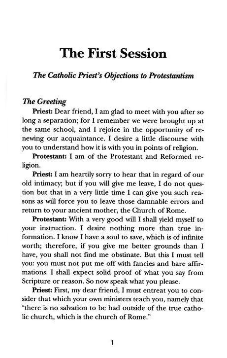 A Dialogue Between a Catholic Priest and a Protestant