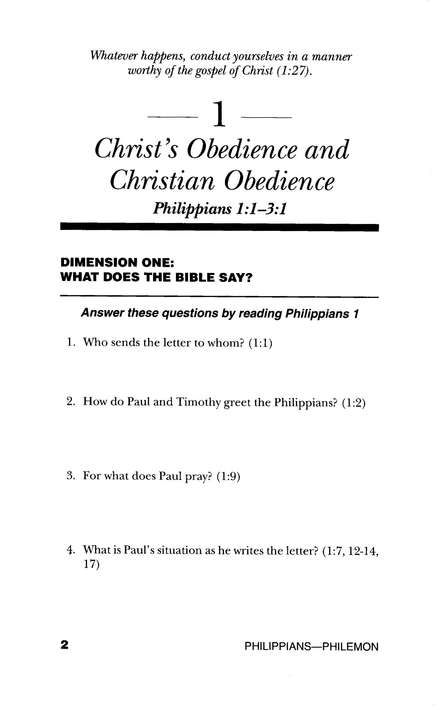 Philippians, Colossians, 1&2 Thess., 1&2 Timothy, Titus, Philemon,n Genesis to Revelation: NIV Bible Study