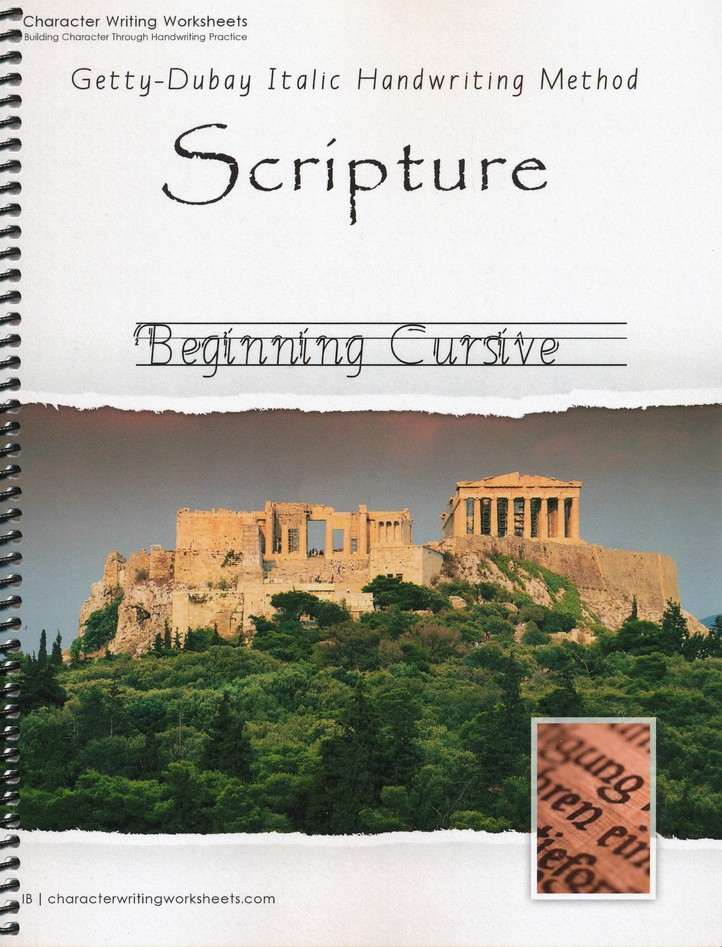 Scripture: Beginning Cursive, Getty-Dubay Edition