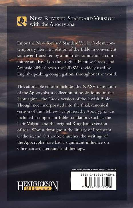 The NRSV Bible with the Apocrypha, softcover