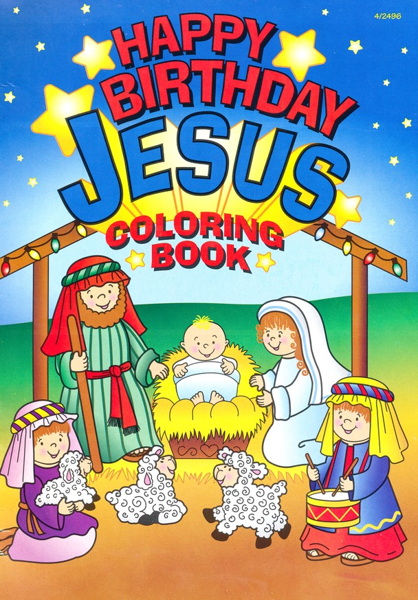 Happy Birthday Jesus Coloring Set, 12 Sets