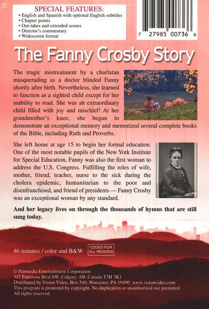 The Fanny Crosby Story, DVD