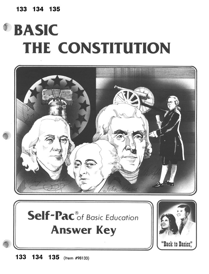 High School Government Elective: The Constitution SCORE Keys 133-136