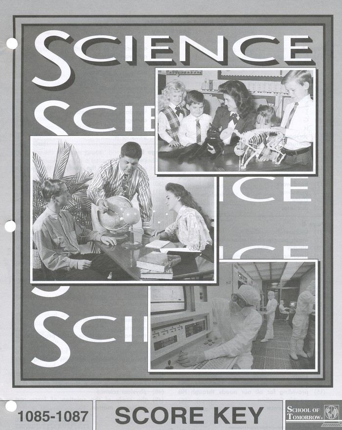 Grade 8 Science SCORE Keys 1085-1096 (3rd Edition)