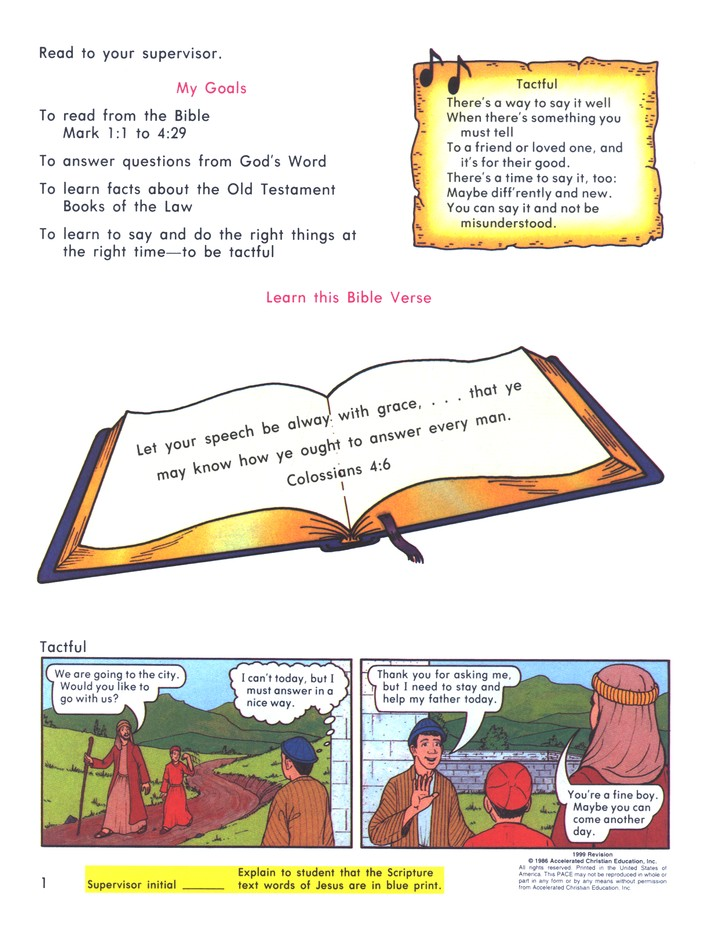 Grade 4 Bible Reading PACEs 1037-1048