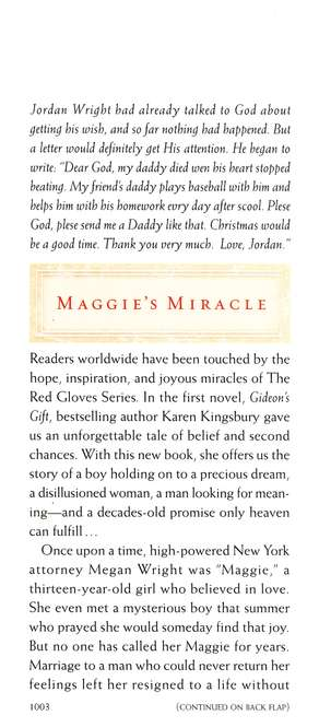 Maggie's Miracle, Red Glove Series #2