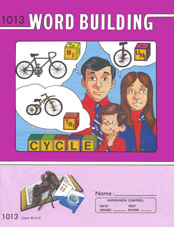 Grade 2 Word Building PACEs 1013-1024 (with 4th Edition  PACEs 1013, 1015, 1017-1020, & 1023)
