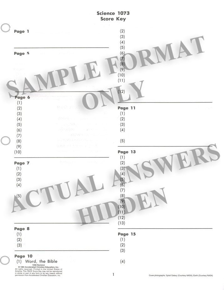 Grade 7 Science SCORE Keys 1073-1084 (4th Edition)