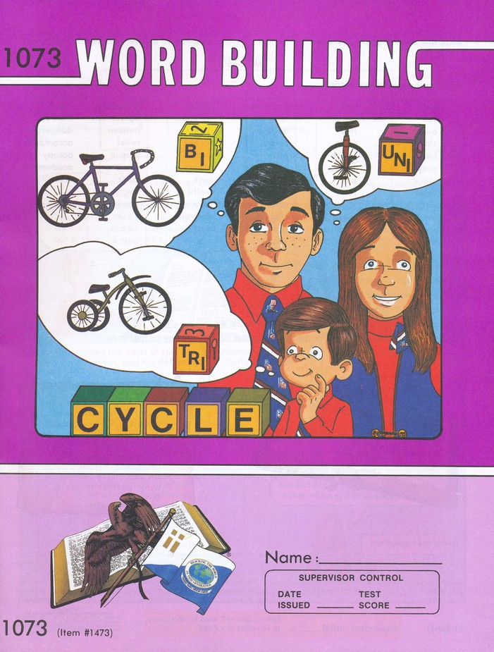 Grade 7 Word Building PACEs 1073-1084, 3rd Edition (with 4th Edition PACEs 1074 & 1076-1084)
