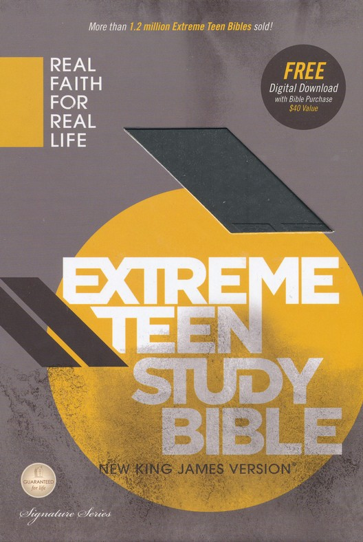 NKJV Extreme Teen Study Bible, Leathersoft, charcoal