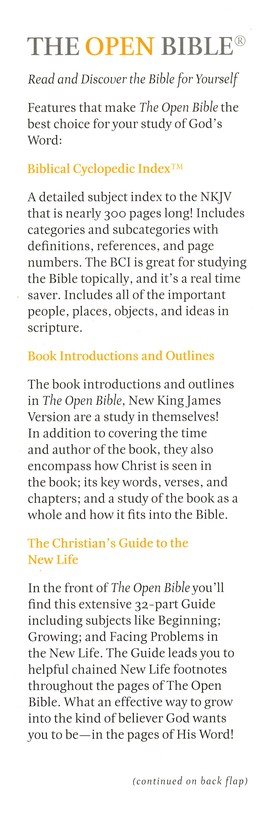 NKJV Open Bible, Hardcover