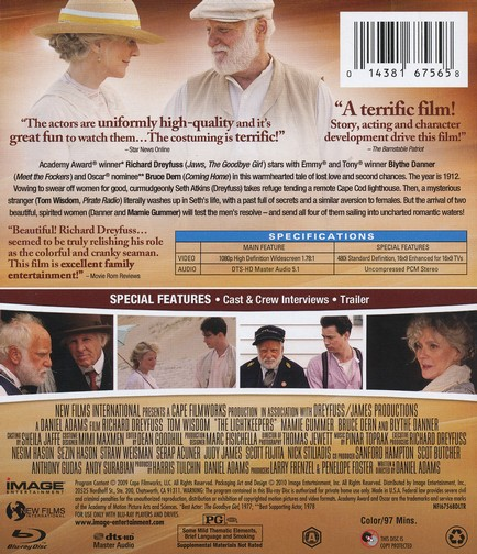 The Lightkeepers, Blu-ray