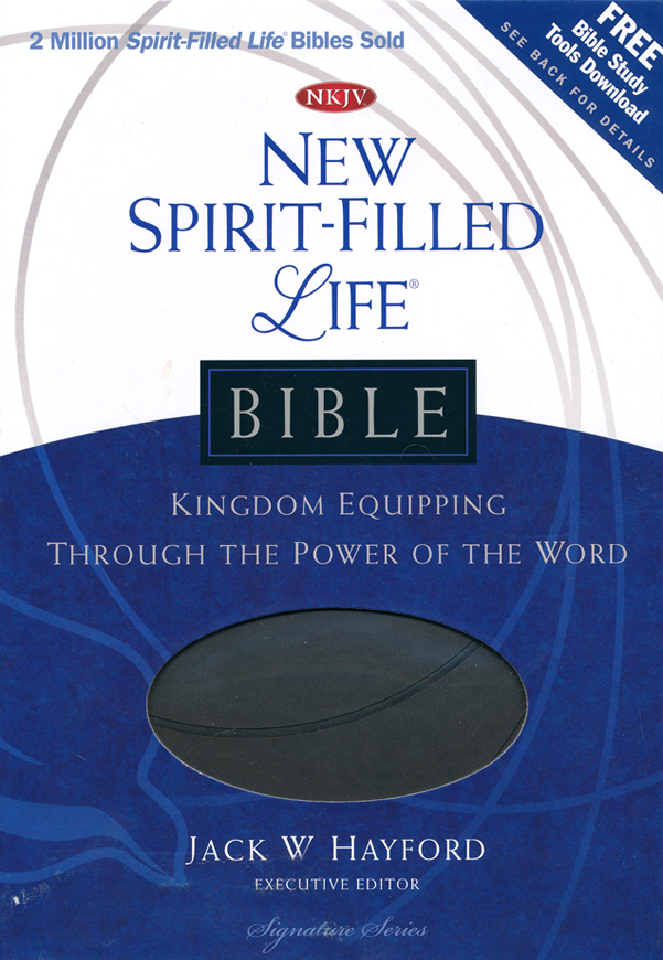 NKJV New Spirit Filled Life Bible, Leathersoft, charcoal-indexed