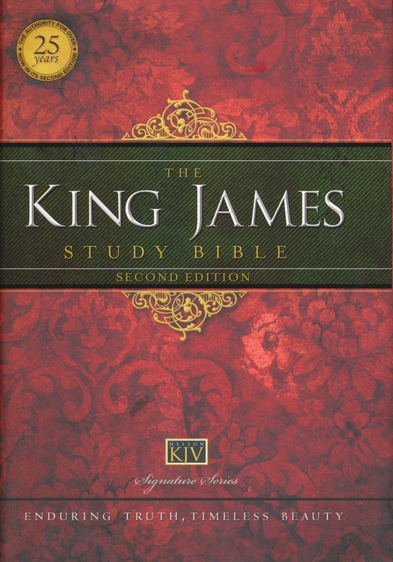 King James Study Bible, Second Edition, Hardcover