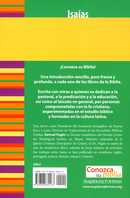 Serie Conozca Su Biblia: Isa&#237as  (Know Your Bible Series: Isaiah)