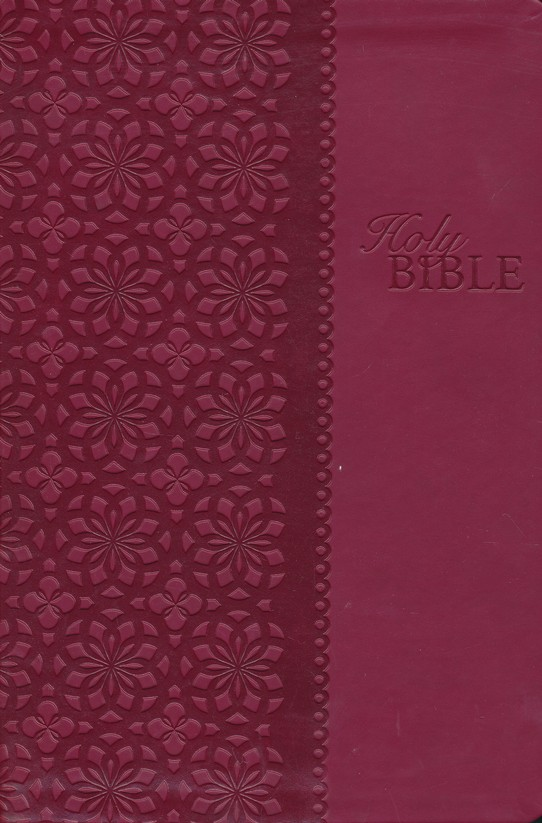 King James Study Bible, Second Edition, Leathersoft, Cranberry--indexed