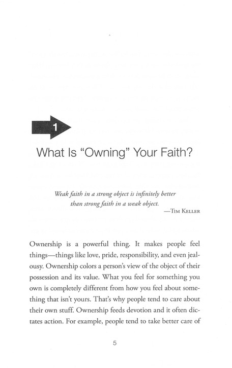 Own It: Leaving Behind a Borrowed Faith