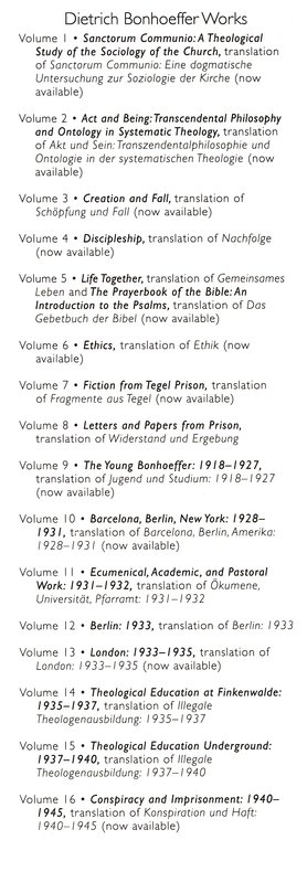 Barcelona, Berlin, New York, 1928-1931: Dietrich Bonhoeffer Works, Vol. 10