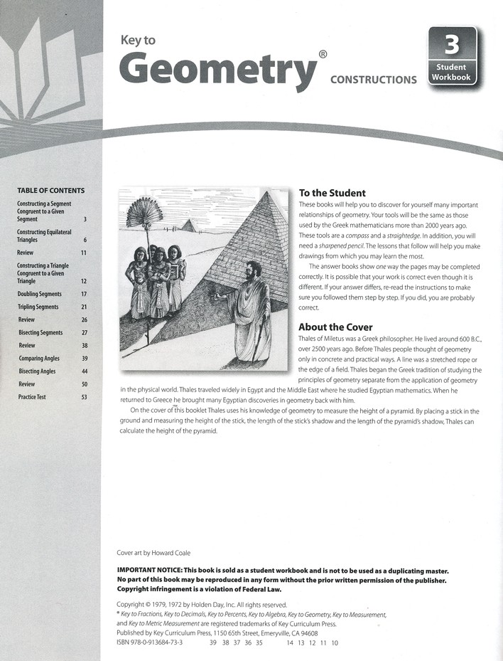 Key To Geometry, Book #3