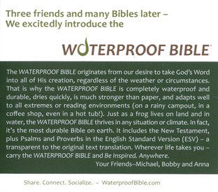 NLT Waterproof Bible, Camouflage