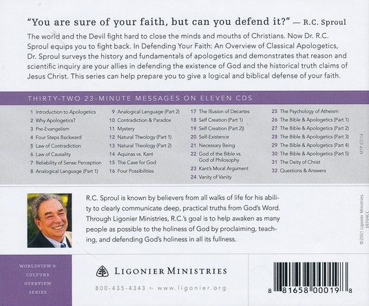 Defending Your Faith: An Overview of Classical Apologetics with R.C. Sproul CD Collection