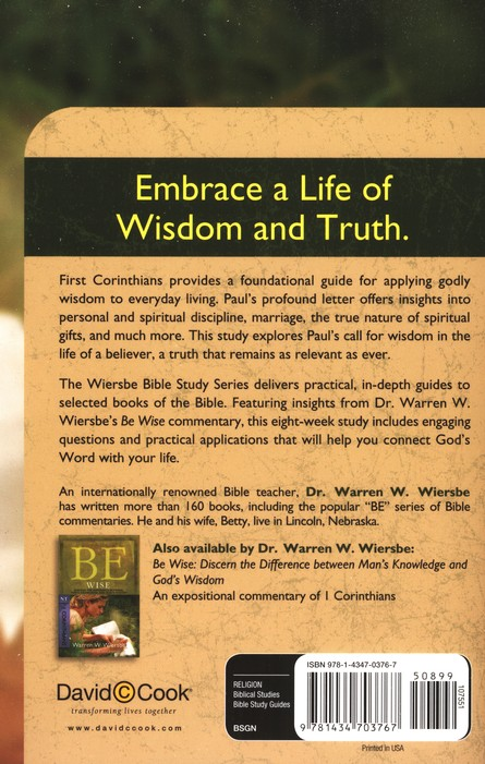 1 Corinthians: The Wiersbe Bible Study Series