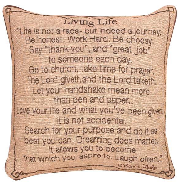 Living Life Pillow