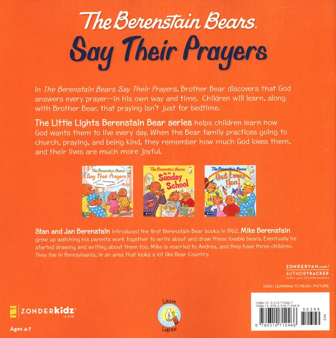 Living Lights: The Berenstain Bears Say Their Prayers