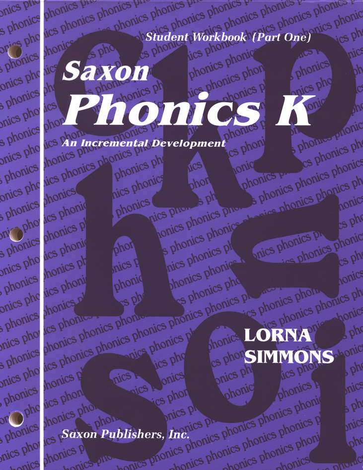 Saxon Phonics K, Student Workbooks