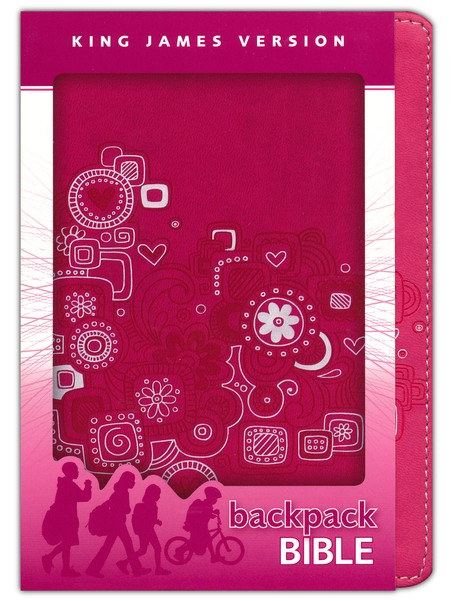 KJV Backpack Bible, Italian Duo-tone, Pink Graffiti